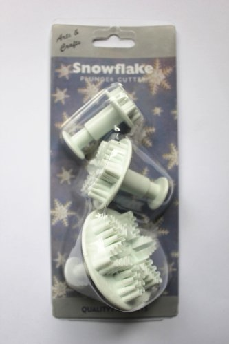 Set of 3pcs Snowflower plunger Cutter cake decorating fondant embossing tool