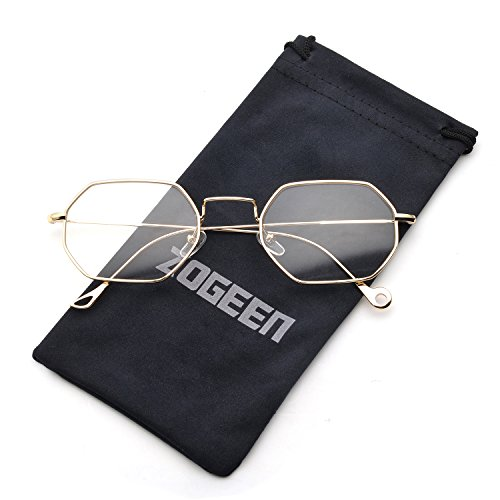 ZOGEEN Men Women Sunglasses Small Metal Frame Asymmetry Temple Z674 - What For Face Glasses Round Shape