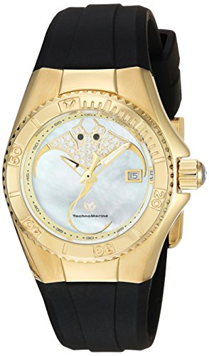 Technomarine Women's 'Cruise' Quartz Gold-Tone and Silicone Casual Watch, Color:White (Model: TM-115254)