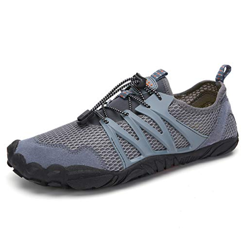 - AFT AFFINEST Mens Womens Water Shoes Outdoor Hiking Sandals Aqua Quick Dry Barefoot Beach Sneakers Swim Boating Fishing Yoga Gym(Grey-C,43)