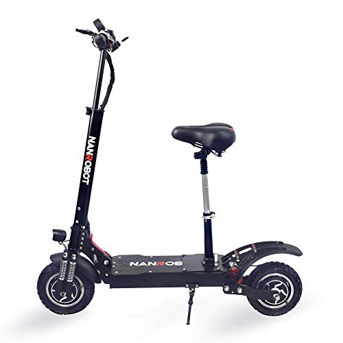 NANROBOT D4+High Speed Electric Scooter -Portable Folding, 40 MPH and 45 Mile, 2000W Motor and 330lb Load