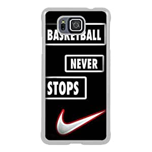 Basketball Never Stops Jordan Slam Dunk White Samsung Galaxy Alpha Screen Phone Case Fashion and Attractive Design