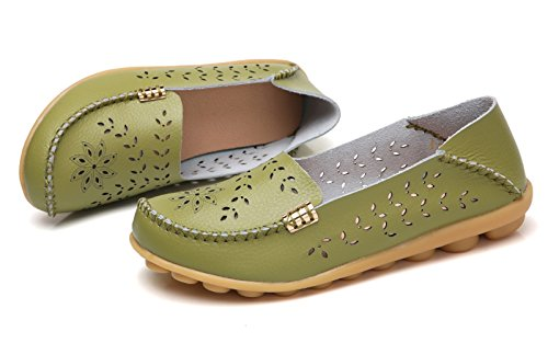 VenusCelia Loafer Green Walking Women's Laurel Breathable Flat Natural Pistac awxXagPqr