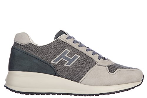 Hogan chaussures baskets sneakers homme en cuir interactive n20 blu