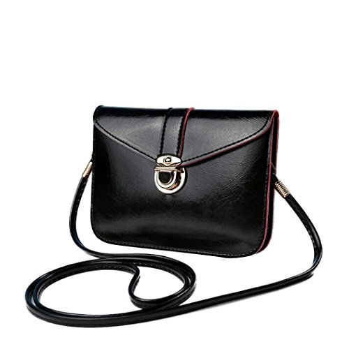 Outsta Fashion Messenger Purse Bag,Leather Handbag Single Shoulder Phone Bag Coin Bag Travel Backpack Classic Basic Casual Daypack (B) by Outsta (Image #2)