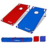 GoSports Portable 4' x 2' XL PVC Framed Cornhole Game Set with 8 Bean Bags and Travel Carrying Case