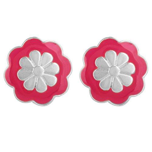 Buy Vijayshree Sovani Designs 925 Sterling Silver Round Pink Flower