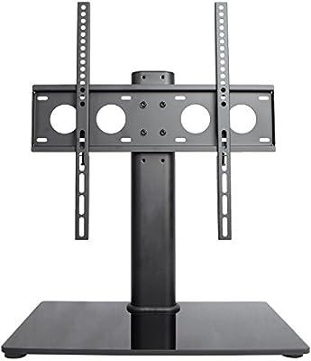 VIVO Universal Economic LCD Flat Screen TV Table Top Stand w/ Glass Base