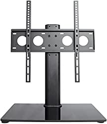 "Vivo Universal Economic Lcd Flat Screen Tv Table Top Stand W Glass Base For 32"" To 47"" T.v. (Stand-tv00j)"