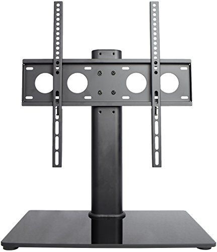 VIVO Universal Economic LCD Flat Screen TV Table Top Stand w/ Glass Base for 32″ to 47″ T.V. (STAND-TV00J)