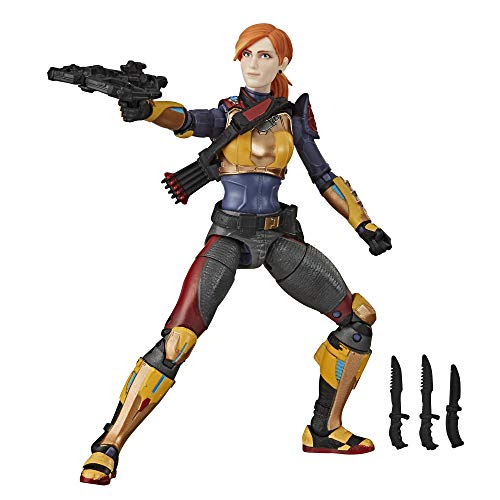 🥇 Hasbro G.I. Joe Classified Series Scarlett Action Figure Collectible 05 Premium Toy with Multiple Accessories 6-Inch Scale with Custom Package Art