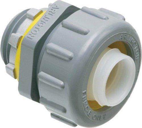 Arlington NMLT50 1/2-Inch Straight Liquid-Tight Connector, Non-Metallic, 100-Pack