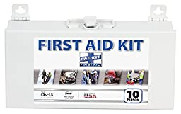 Pac-Kit by First Aid Only 6110 76 Piece 10 Person ANSI Compliant First Aid Kit with Steel Case