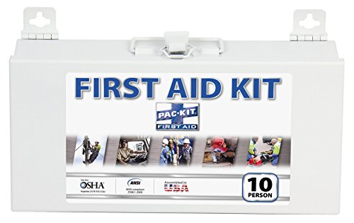 Pac-Kit by First Aid Only 6110 76 Piece 10 Person ANSI Compliant First Aid Kit with Steel Case Acme First Aid Station