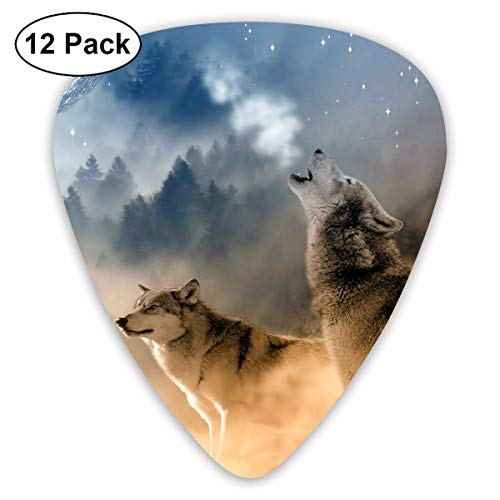 V5DGFJH.B Three Wolves Howling Classic Guitar Pick Player's Pack for Electric Guitar,Acoustic Guitar,Mandolin,Guitar Bass -