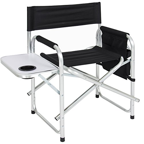 Best Choice Products Aluminum Folding Picnic Camping Chair W Table Tray Cup Holder Director Seat