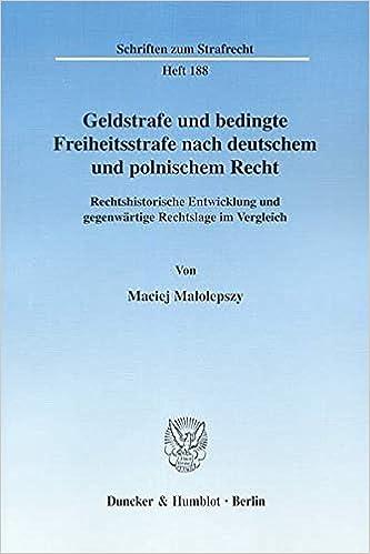 Book Geldstrafe und bedingte Freiheitsstrafe nach deutschem und polnischem Recht