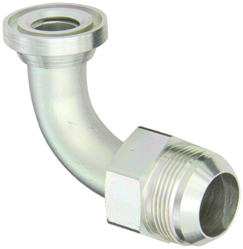 EATON Weatherhead 59020X16 90 Degree Split Flange Tube Elbow, JIC 37° & Split Flange (Code 61) End Types, Steel, 1-1/4 JIC(m) x M26(m) End Size, 1-1/4