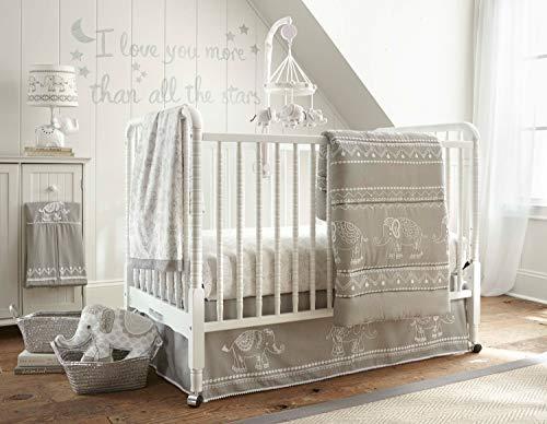 Levtex Home Baby Ely 5 Piece Crib Bedding Set, White