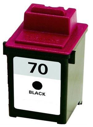 Black Remanufactured 12a1970 Cartridge Inkjet (Axiom Remanufactured Lexmark 12A1970 #70 Black Ink Cartridge For Lexmark Z Series Z11 Z31 Z42 Z43 Z45 Z51 Z52 Z53 Z54 Z80 Z82 Z703 Z710)