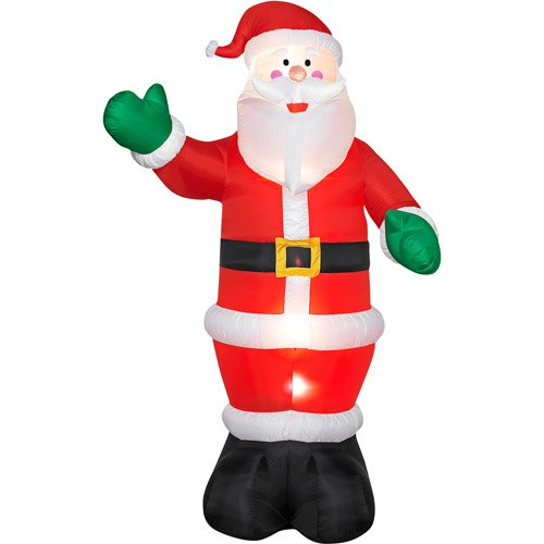 12ft Tall Ginormous Huge Tall Giant Airblown Lighted Lights up Inflatable Self Inflates Blow up Waving Friendly Santa Claus Red Suit Hat Outdoor Decor Air Blown Christmas Holiday Festive Yard (Air Blown Inflatables)