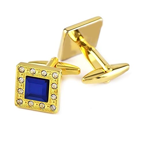 Adisaer Cufflinks Gold Copper Square Cubic Zirconia Men Cufflinks Polished