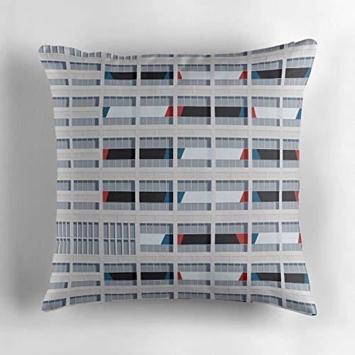 Le Corbusier Sofa Bed - Biekxrso Le Corbusier Facade S03 2 Decorative Throw Pillow Cover Cotton Square Cushion Cover Pillow Case for Couch Sofa Home Decor 18x18 Inches