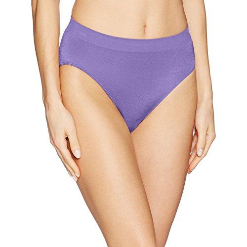 Wacoal Women's B-Smooth Hi-Cut Brief Panty, Twilight Purple, L