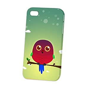 Case Fun Apple iPhone 4 / 4S Case - Vogue Version - 3D Full Wrap - Australian King Parrot by DevilleART