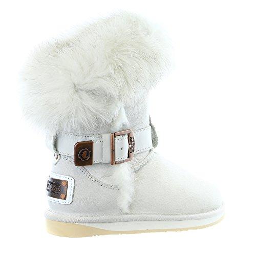 Australia Luxe Collettivo Donna Tsar Corta Pelliccia Di Volpe Pelle Di Pecora Invernale Boot Colomba
