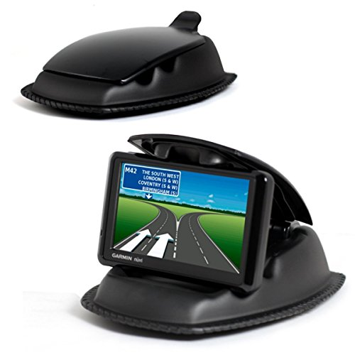 Navitech Black Universal Ultra Hold Dashboard Mount Compatible with The Garmin Nuvi 40 & 40LM