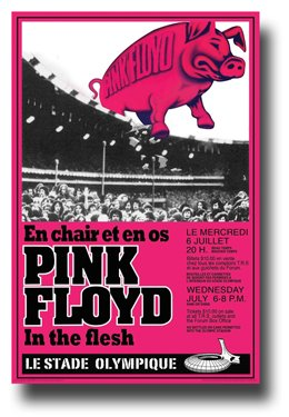 Pink Floyd Poster - Concert Promo - In the Flesh Tour 11 X 17