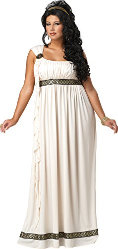 [California Costumes Women's Plus-Size Olympic Goddess Plus, Cream, 3X] (Plus Size Halloween Costumes For Women)