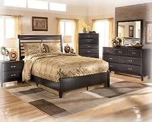 Amazon.com: Ashley Kira Contemporary Queen Size Bedroom Set in ...