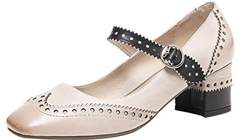 Mujer Hebilla Zapatos Arraysa 5CM Square de Toe Qaicr tac CdUUgFn