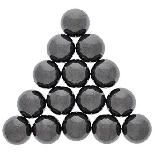 Hypnotic Gems: 20 pcs Magnetic Hematite Rounds in 1 inch Size - Bulk Magnets for Refrigerators, Art, Crafts, Fidget Toys, Sticky Stones, Magnetic Healing and More!