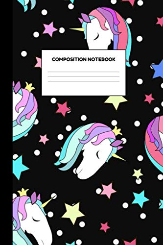 College Party Girls (Compostion Notebook: Glamorous Unicorn School Supplies for Girls - College Ruled Paper Notebook Journal Blank Lined Workbook for Teens Kids Students for Home School for Writing)