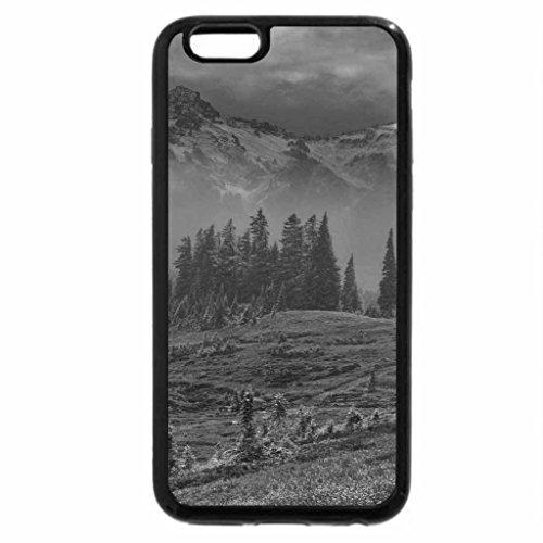 iPhone 6S Case, iPhone 6 Case (Black & White) - Cloudy Terrain.