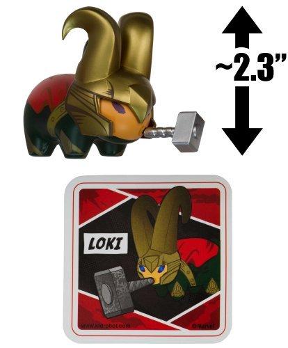 "Loki ~2.3"" Mini-Figure: Kidrobot x Marvel Labbit Series by Frank Kozik [UNCOMMON]"