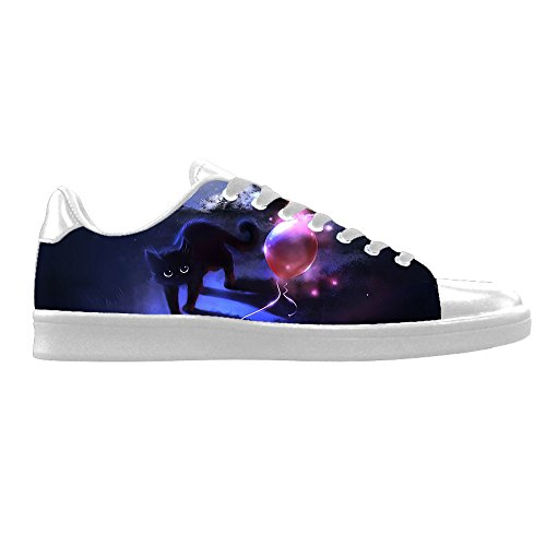 Custom Katzen malen Mens Canvas shoes Schuhe Lace-up High-top Sneakers Segeltuchschuhe Leinwand-Schuh-Turnschuhe E