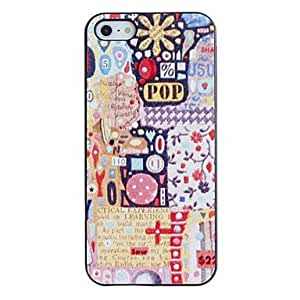 HP Scrawl Pattern PC Hard Case with Black Frame for iPhone 5/5S