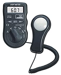 REED Instruments R8150 Pocket Light Meter, 50,000 Lux / 5,000 Foot Candles (Fc) with NIST Calibration Certificate