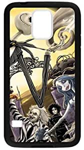 Custom Cartoon The Nightmare Before Christmas Pattern Case Cover for Samsung Galaxy S5, Laser Technology Material