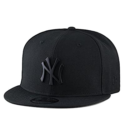 New Era New York Yankees Snapback Hat Cap Black Metal Badge