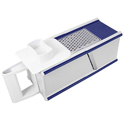 (Professional Box Grater Multifunctional Grater Box Vegetables Fruits Grinder Slicing Tool Kitchen Accessories(Blue))