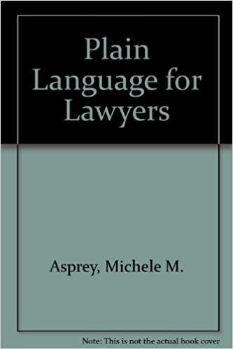Book Plain Language for Lawyers