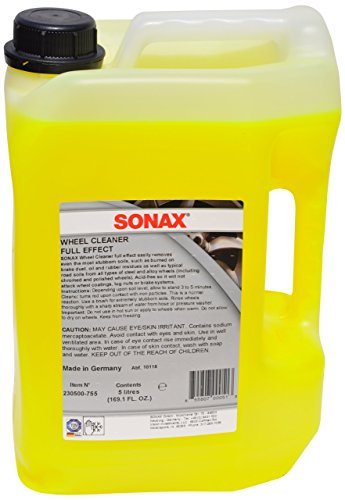 Sonax (230500) Wheel Cleaner Full Effect - 169.1 fl. oz. (Best Aluminum Wheel Cleaner)