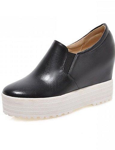 ZQ Zapatos de mujer - Tacón Cuña - Cuñas / Tacones / Plataforma / Creepers / Punta Redonda - Tacones / Mocasines -Oficina y Trabajo / , pink-us10.5 / eu42 / uk8.5 / cn43 , pink-us10.5 / eu42 / uk8.5 / red-us6.5-7 / eu37 / uk4.5-5 / cn37