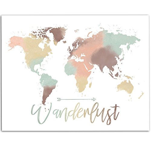 Compare price cute world map poster on statementsltd cute world map poster 5 gumiabroncs Choice Image