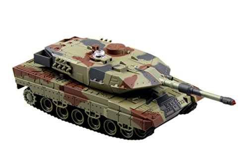 ams M1A2 Battle Tank Infrared Fighting Panzer RC 1/36 Camouflage Military Vehicle (Color May Vary) ()